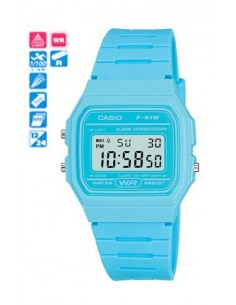 RELOJ CASIO DIGITAL CAUC.CELESTE