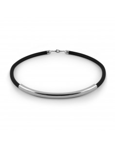 COLLAR LUXENTER METAL PLATEADO