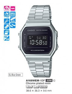 RELOJ CASIO DIGITAL METAL ESF.VIOL