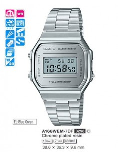 RELOJ CASIO DIGITAL METAL ESF.PL
